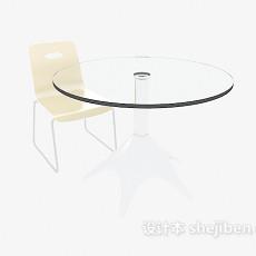 公司休闲区桌椅3d模型下载