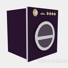 紫色滚筒洗衣机3d模型下载
