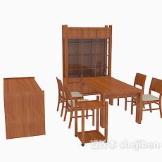 中式家具桌椅组合3d模型下载
