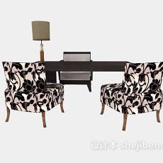 中式书桌椅3d模型下载