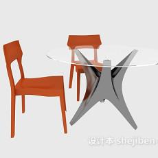 圆桌组合3d模型下载