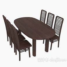 圆桌、高背椅3d模型下载