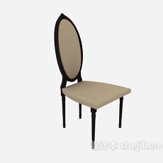 高背家居餐椅3d模型下载