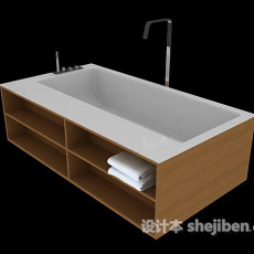 复合式浴缸3d模型下载