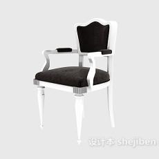 扶手餐椅3d模型下载