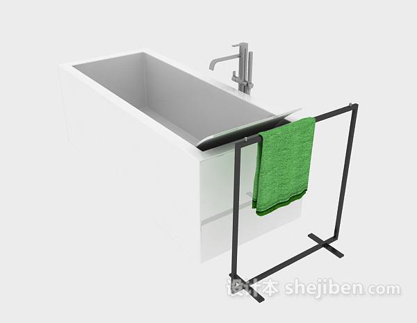 陶瓷浴缸模型下载