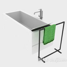 陶瓷浴缸3d模型下载