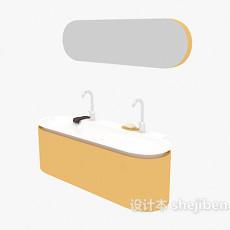 洗手盆、卫浴镜3d模型下载