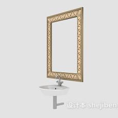 欧式风格卫浴镜3d模型下载