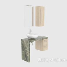 简约家居浴柜3d模型下载