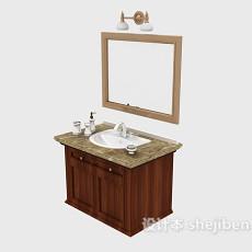 美式家居浴柜3d模型下载