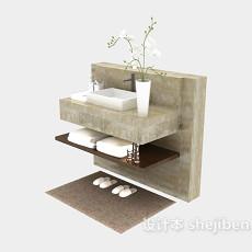 欧式浴柜3d模型下载