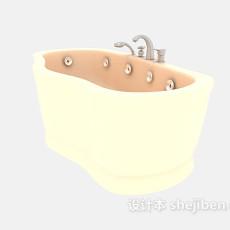 按摩浴缸3d模型下载