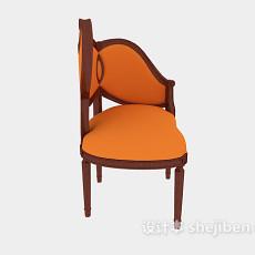 实木个性休闲椅3d模型下载