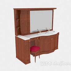 欧式卫浴镜3d模型下载