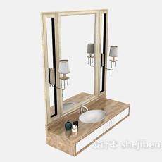 美式家居洗脸盆3d模型下载