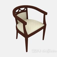 中式沙发椅3d模型下载