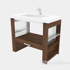 小型家居浴柜3d模型下载