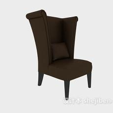 棕色高靠背家居椅3d模型下载