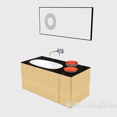 木质浴柜3d模型下载