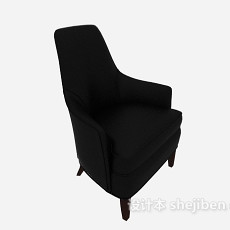 高背沙发软椅3d模型下载