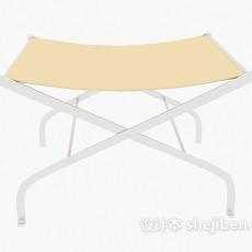 单人折叠椅3d模型下载