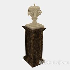 欧式装饰柱子3d模型下载