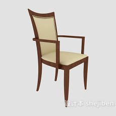 高靠背餐椅3d模型下载