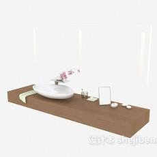 洗手盆、洗漱品摆放架3d模型下载