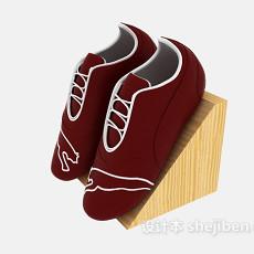 红色休闲鞋3d模型下载
