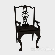 中式雕花家居椅3d模型下载