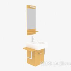 厕所洗手盆、卫浴镜3d模型下载
