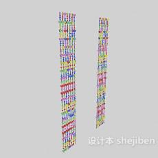 门帘装饰3d模型下载