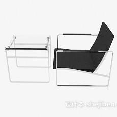 现代办公接待桌椅3d模型下载