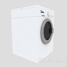 美的滚筒洗衣机3d模型下载