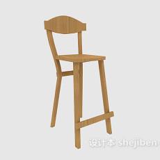吧台高脚椅3d模型下载