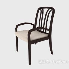 简易实木餐椅3d模型下载