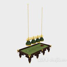 木质台球桌3d模型下载