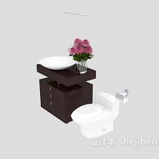 卫浴间洗脸盆、马桶3d模型下载
