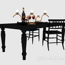 简欧风格风格餐桌3d模型下载