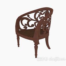 欧式雕花椅3d模型下载