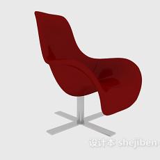 红色天鹅椅3d模型下载