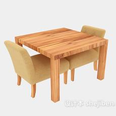 小木方桌3d模型下载