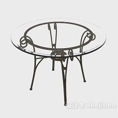 玻璃  圆桌3d模型下载