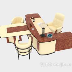 精美办公桌组合3d模型下载