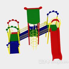 儿童滑梯3d模型下载