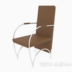 高背扶手椅3d模型下载