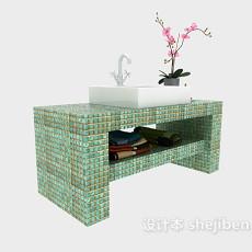 简约时尚浴柜3d模型下载