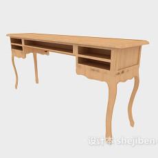 欧式古典书桌3d模型下载