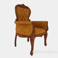 欧式高背单人沙发3d模型下载